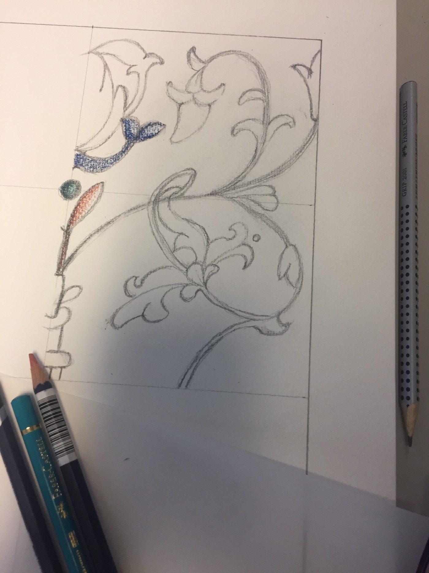 Ručně malované - nákres